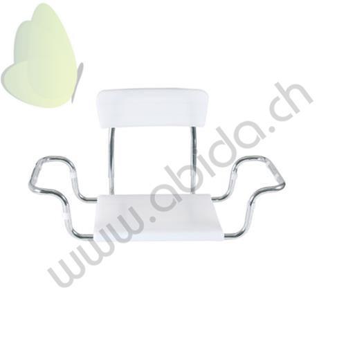 Prodotto mor rs925 sedile per vasca da bagno con seduta in moplen e schienale regolabile in - Larghezza vasca da bagno ...