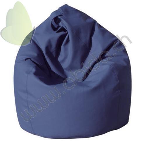 Poltrone Sacco E Pouf.Produit Eba Sacco Poltrona Sacco Pouf In Ecopelle Pieno Blu